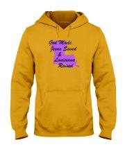 God Made - Jesus Saved - Louisiana Raised Hooded Sweatshirt thumbnail