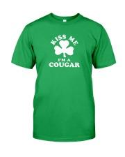 Kiss Me I'm a Cougar Classic T-Shirt front