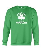 Kiss Me I'm a Cougar Crewneck Sweatshirt thumbnail
