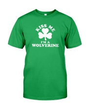 Kiss Me I'm a Wolverine Classic T-Shirt front