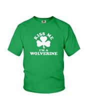Kiss Me I'm a Wolverine Youth T-Shirt thumbnail