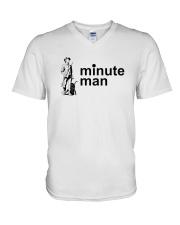 Minute Man V-Neck T-Shirt thumbnail