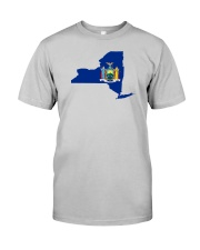 State Flag of New York Classic T-Shirt front