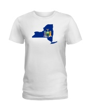 State Flag of New York Ladies T-Shirt thumbnail