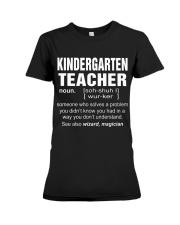 HOODIE KINDERGARTEN TEACHER Premium Fit Ladies Tee thumbnail