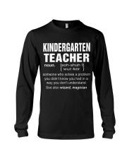 HOODIE KINDERGARTEN TEACHER Long Sleeve Tee thumbnail