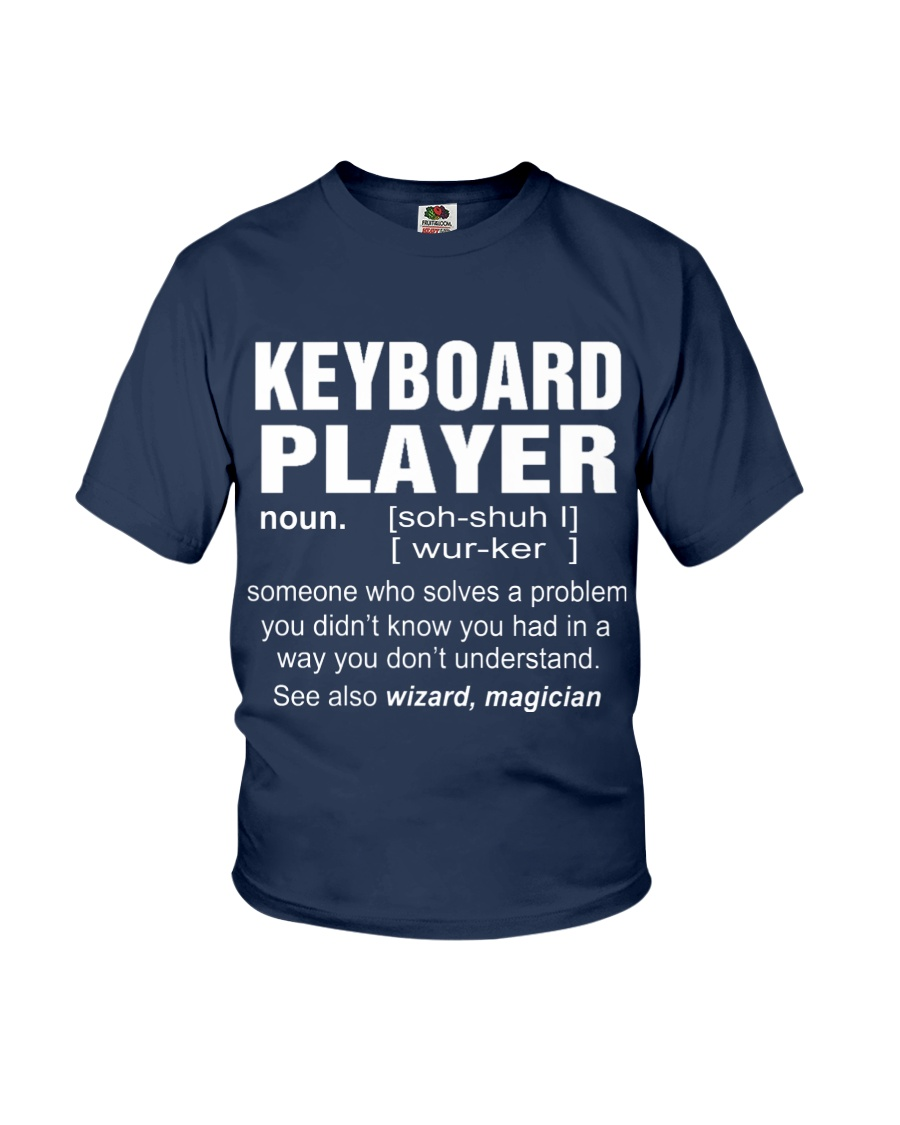 HOODIE KEYBOARD PLAYER Youth T-Shirt