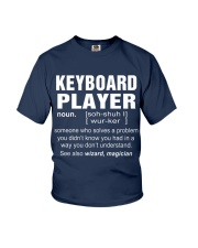 HOODIE KEYBOARD PLAYER Youth T-Shirt front