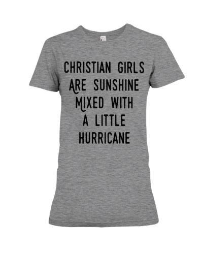 CHRISTIAN GIRLS ARE SUNSHINE TSHIRT