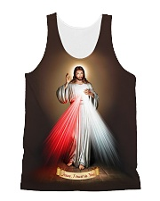 JESUS I TRUST IN YOU - DIVINE MERCY TSHIRT All-over Unisex Tank front