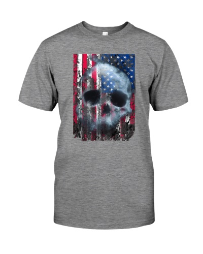 US Flag with Skull