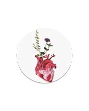 Flower Heart Circle Magnet thumbnail