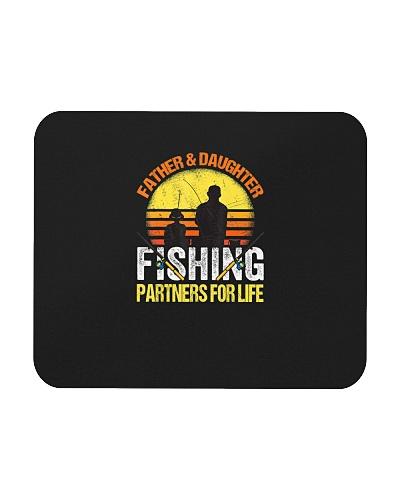 Fisherman Fishing Dad and Daughter