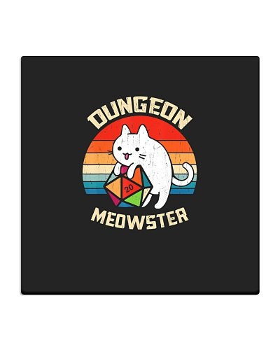 Dungeon Meowster Retro Vintage Funny Cat