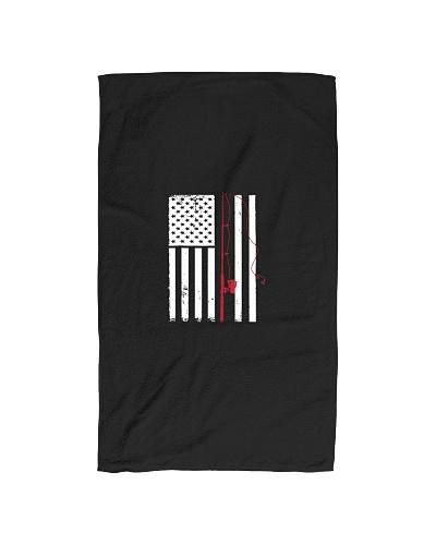 Patriotic Fishing Pole Outdoorsman American Flag