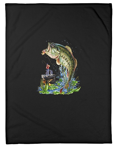 Graphic Large Mouth Bass Fish Fishing