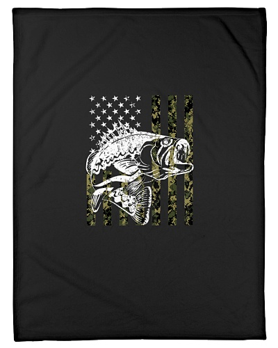 Bass Fisherman Fishing Camouflage USA Flag 2