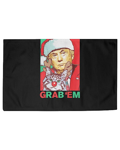 Funny Trump Cat Grab Em Vintage Retro Christmas