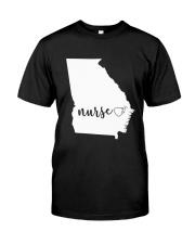 Georgia Nurse shirt Classic T-Shirt thumbnail