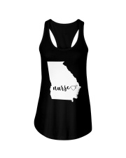 Georgia Nurse shirt Ladies Flowy Tank thumbnail