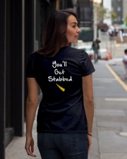 YOU'LL GET STABBED  Ladies T-Shirt lifestyle-women-crewneck-back-1