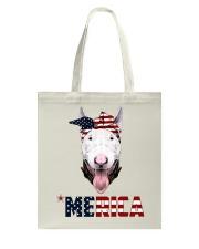 Bull-Terrier--With-Bandana-USA-FLAG Tote Bag thumbnail