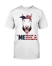 Bull-Terrier--With-Bandana-USA-FLAG Classic T-Shirt thumbnail