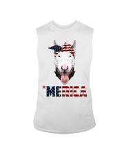 Bull-Terrier--With-Bandana-USA-FLAG Sleeveless Tee thumbnail