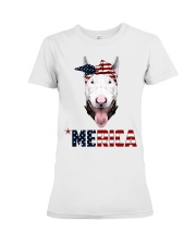 Bull-Terrier--With-Bandana-USA-FLAG Premium Fit Ladies Tee tile