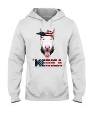 Bull-Terrier--With-Bandana-USA-FLAG Hooded Sweatshirt thumbnail