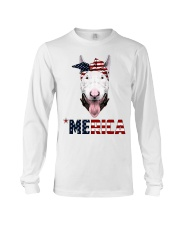 Bull-Terrier--With-Bandana-USA-FLAG Long Sleeve Tee thumbnail