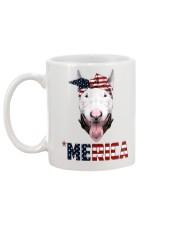 Bull-Terrier--With-Bandana-USA-FLAG Mug back