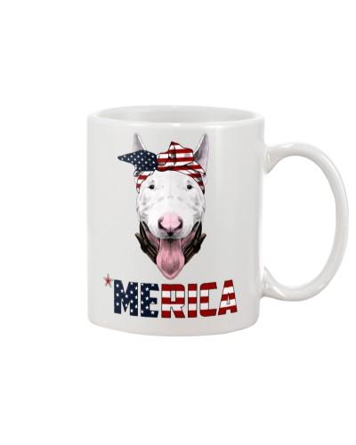 Bull-Terrier--With-Bandana-USA-FLAG