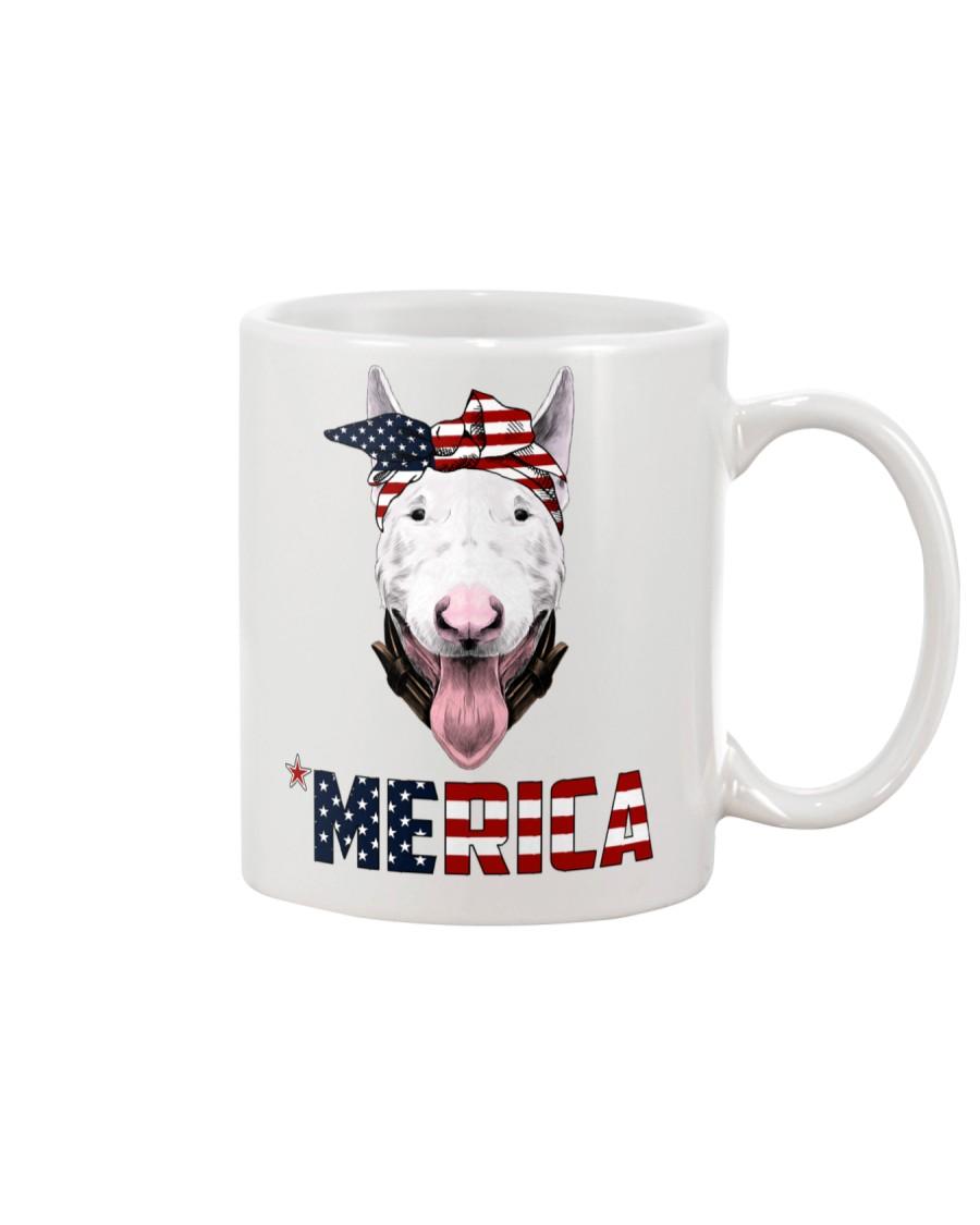 Bull-Terrier--With-Bandana-USA-FLAG Mug