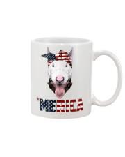 Bull-Terrier--With-Bandana-USA-FLAG Mug front