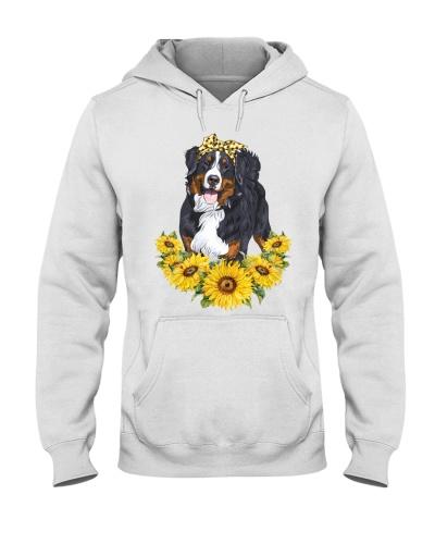 Bernese-mountain-Sunflower-Headband