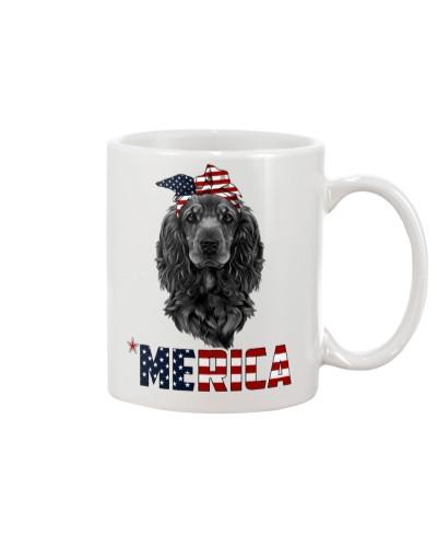 Cocker-Spaniel-muzzle-With-Bandana-USA-FLAG