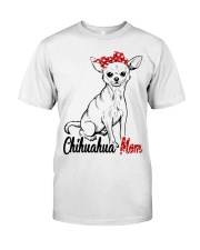 Chihuahua Mom With Red Bandana Classic T-Shirt tile