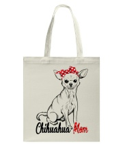 Chihuahua Mom With Red Bandana Tote Bag tile