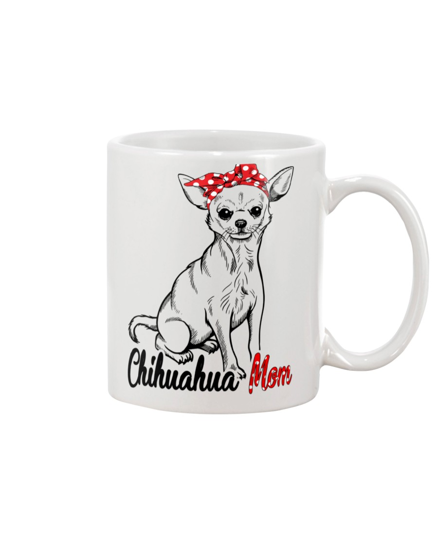 Chihuahua Mom With Red Bandana Mug