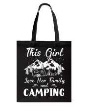 GIRL LOVE FAMILY AND CAMPING Tote Bag tile