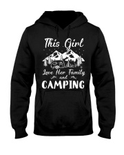 GIRL LOVE FAMILY AND CAMPING Hooded Sweatshirt thumbnail