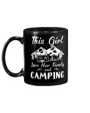 GIRL LOVE FAMILY AND CAMPING Mug back