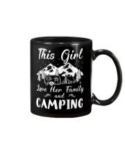 GIRL LOVE FAMILY AND CAMPING Mug front