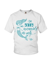 MERMAIDS ONLY Youth T-Shirt front