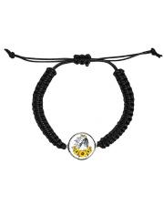 Horse Sunflower Cord Circle Bracelet front