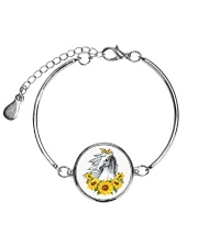 Horse Sunflower Metallic Circle Bracelet thumbnail