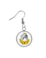 Horse Sunflower Circle Earrings thumbnail