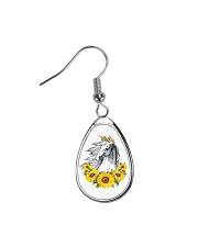 Horse Sunflower Teardrop Earrings thumbnail