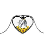 Horse Sunflower Metallic Heart Necklace thumbnail
